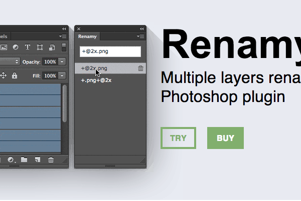 Renamy a plugin for Adobe Generator in Photoshop CC