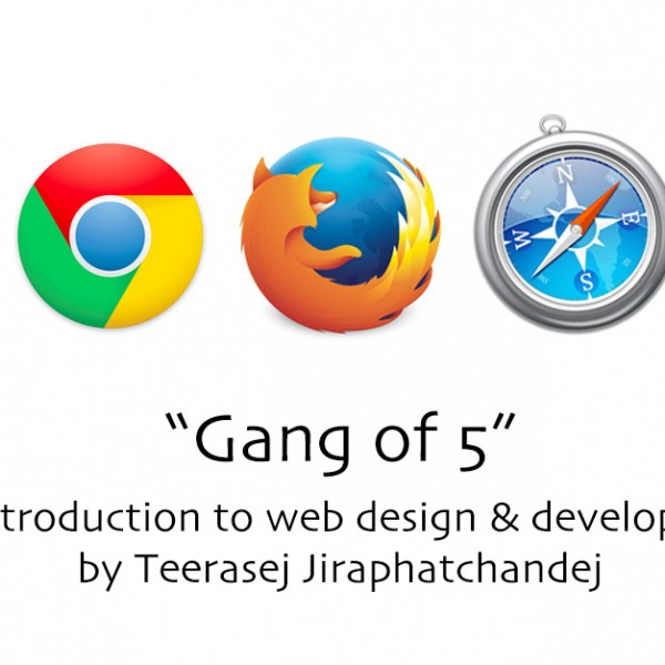 Gang-of-5---multiple-web-browsers-for-web-design-development-by-teerasej