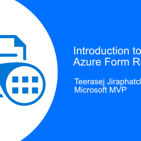 Introduction to Azure Form recognizer - blog post