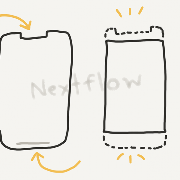 Nextflow - blog post - cover - notch for safearea flutter widget